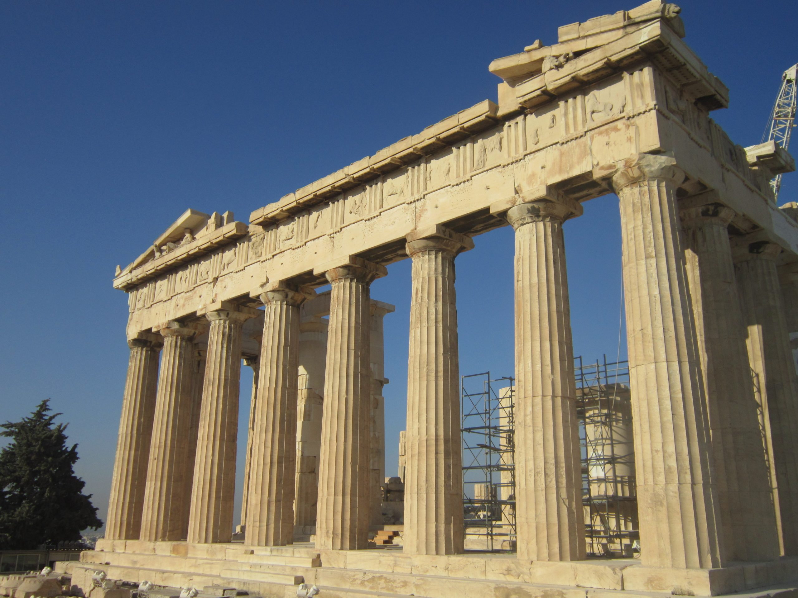 Part of the Parthenon in the Athens Acropolis.