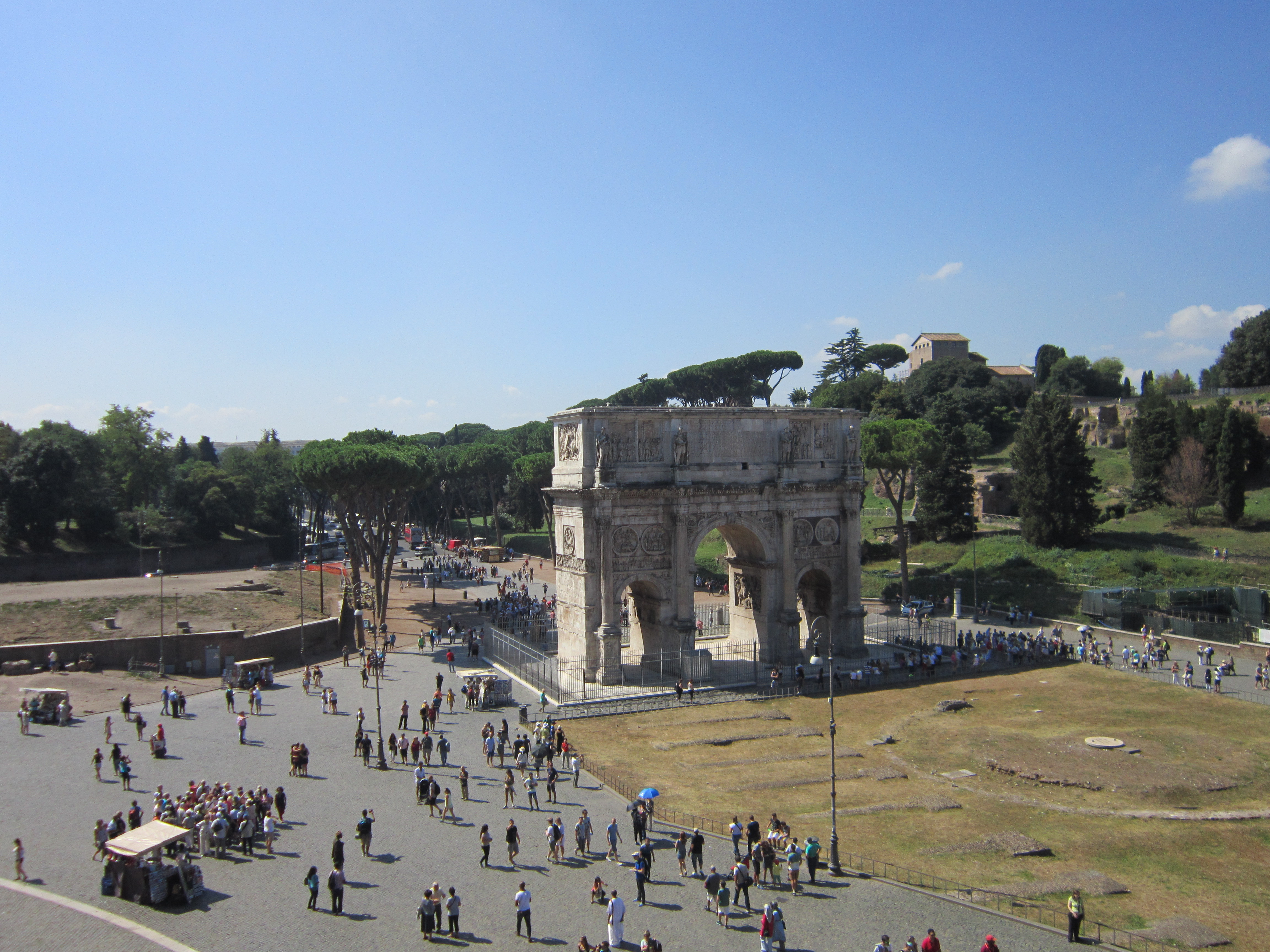 Arch of Constantine, as seen from inside the Colosseum