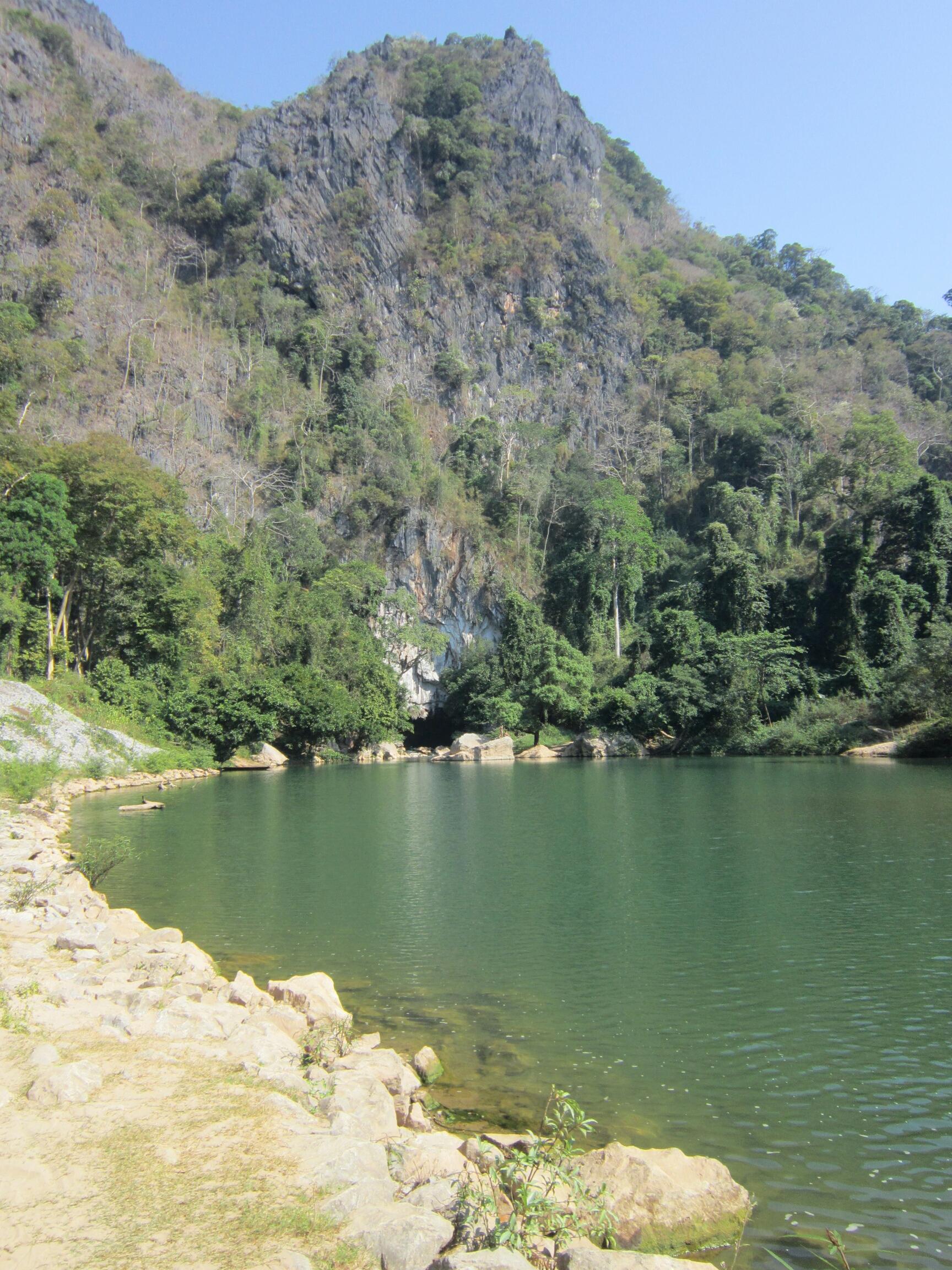 Cave entrance and pool at Konglor, Laos