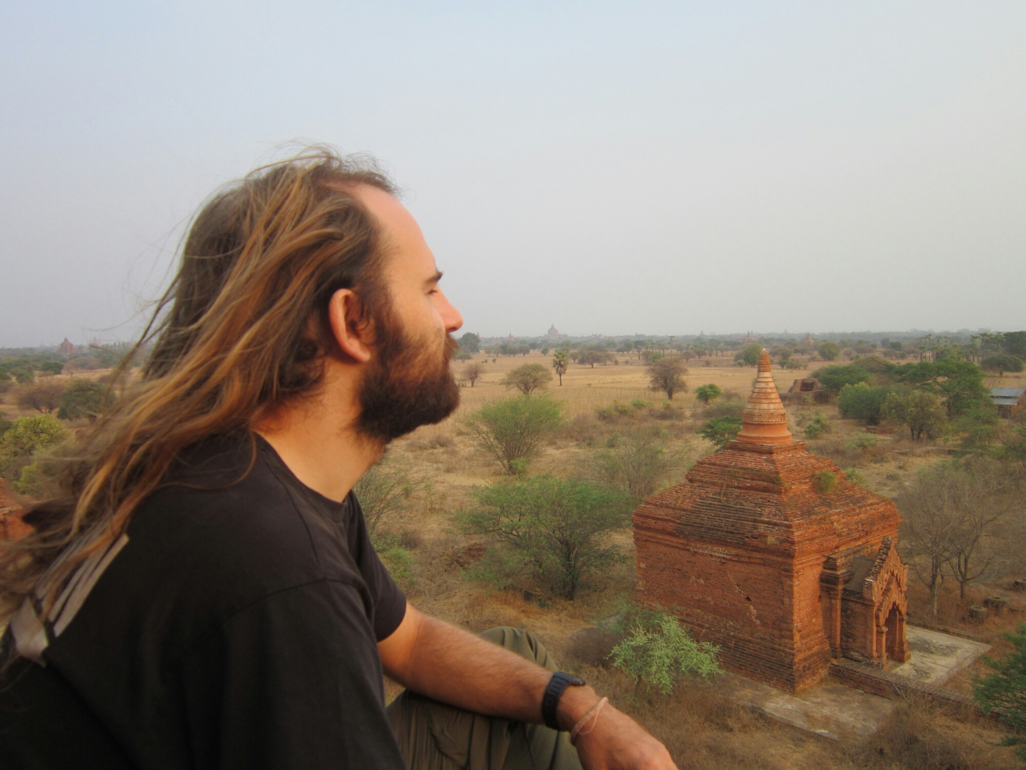 Me looking out at the temple of Bagan