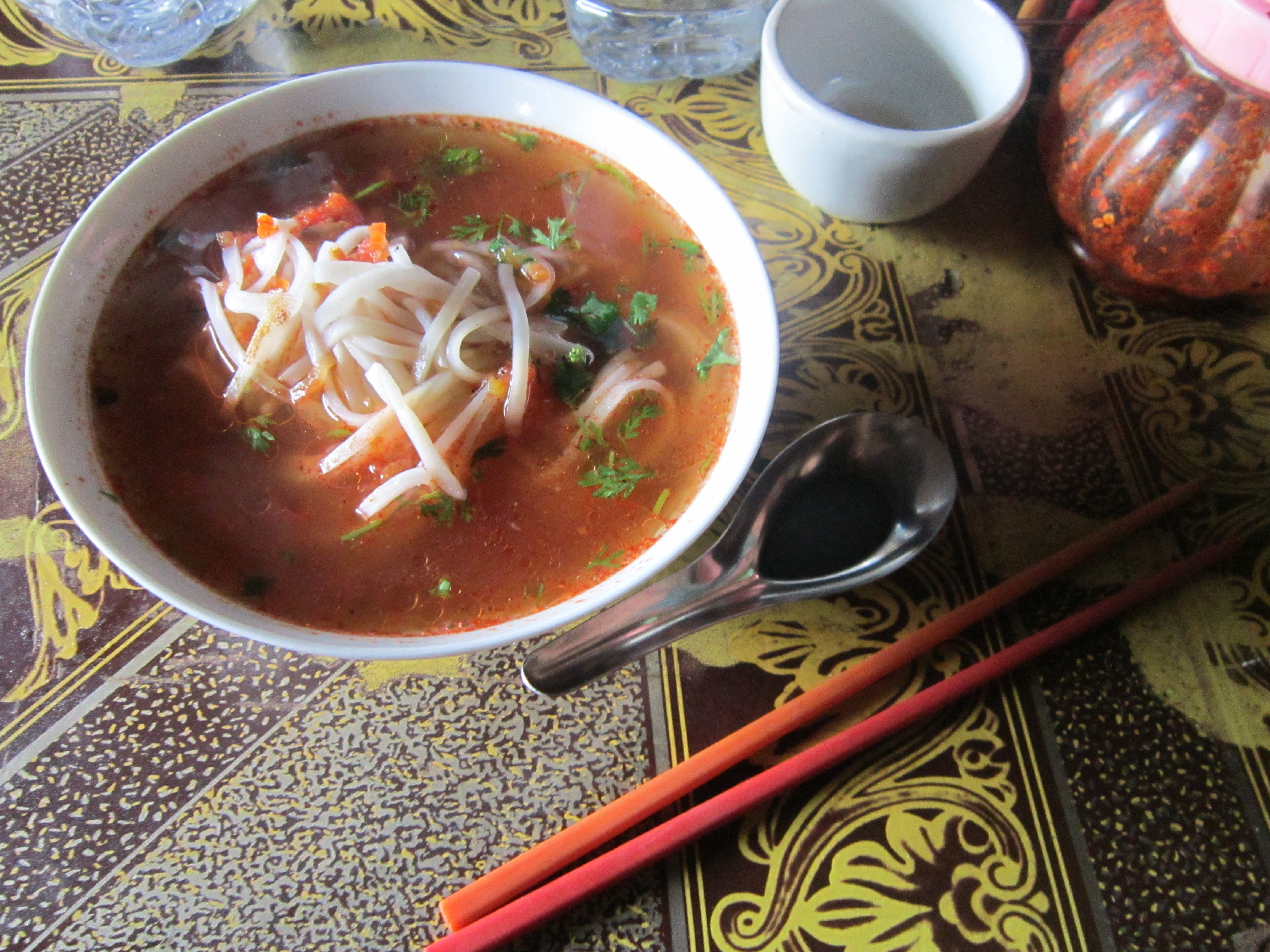 Shan Noodles. Food for a Vegetarian In Southeast Asia