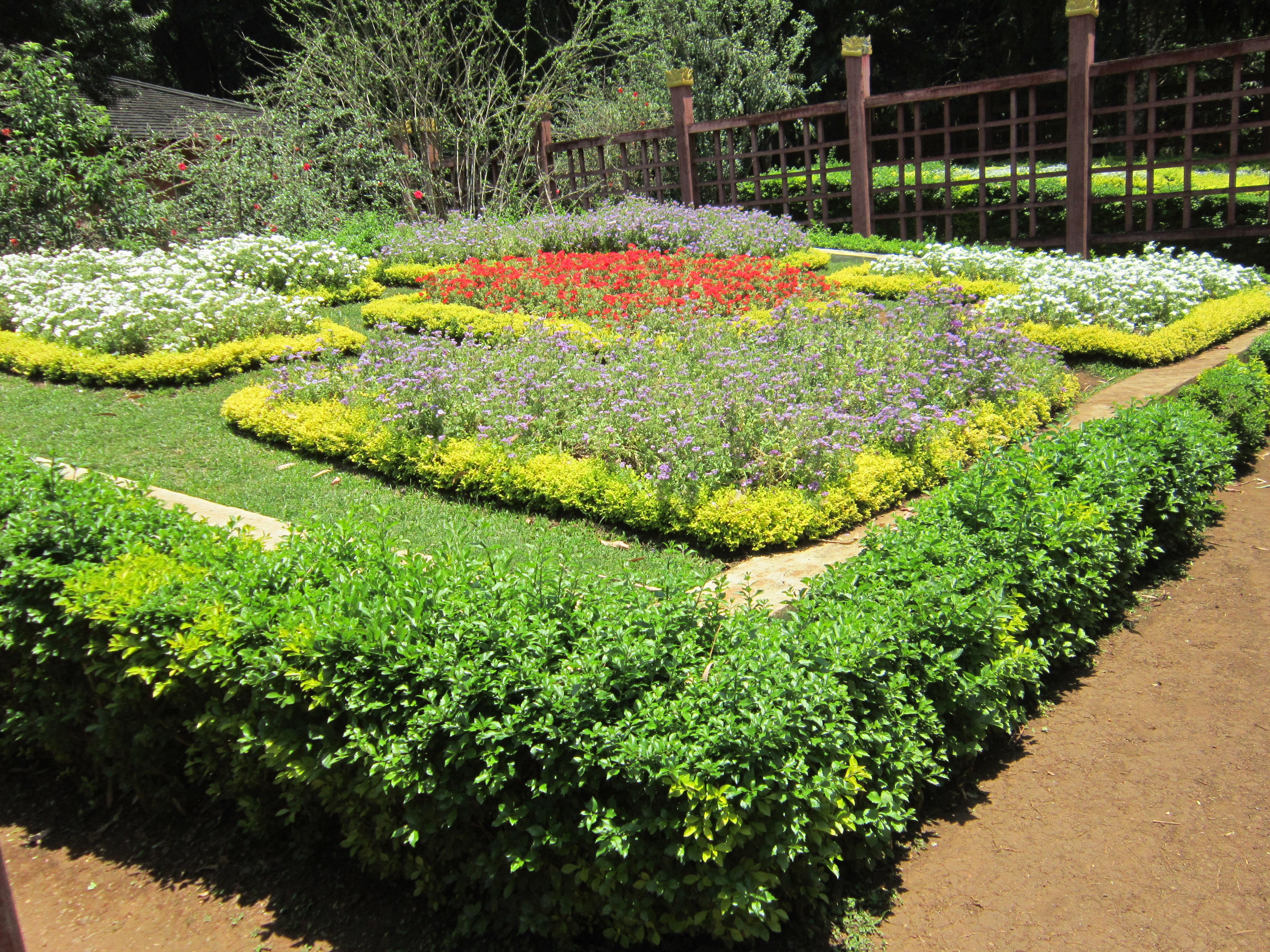 Pyin Oo Lwin - National Kandawgyi Botanical Gardens - flower arrangements