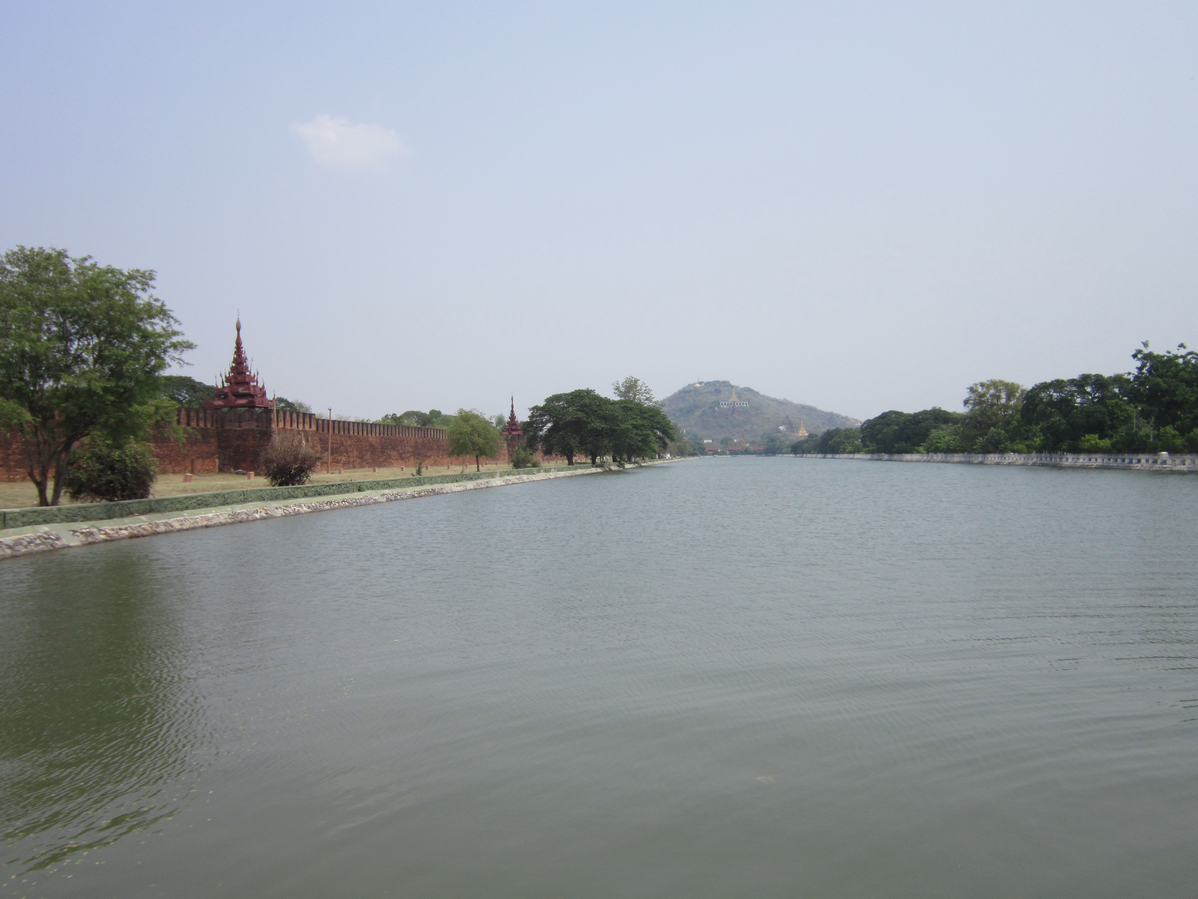 Royal Palace with Mandalay Hill in the background