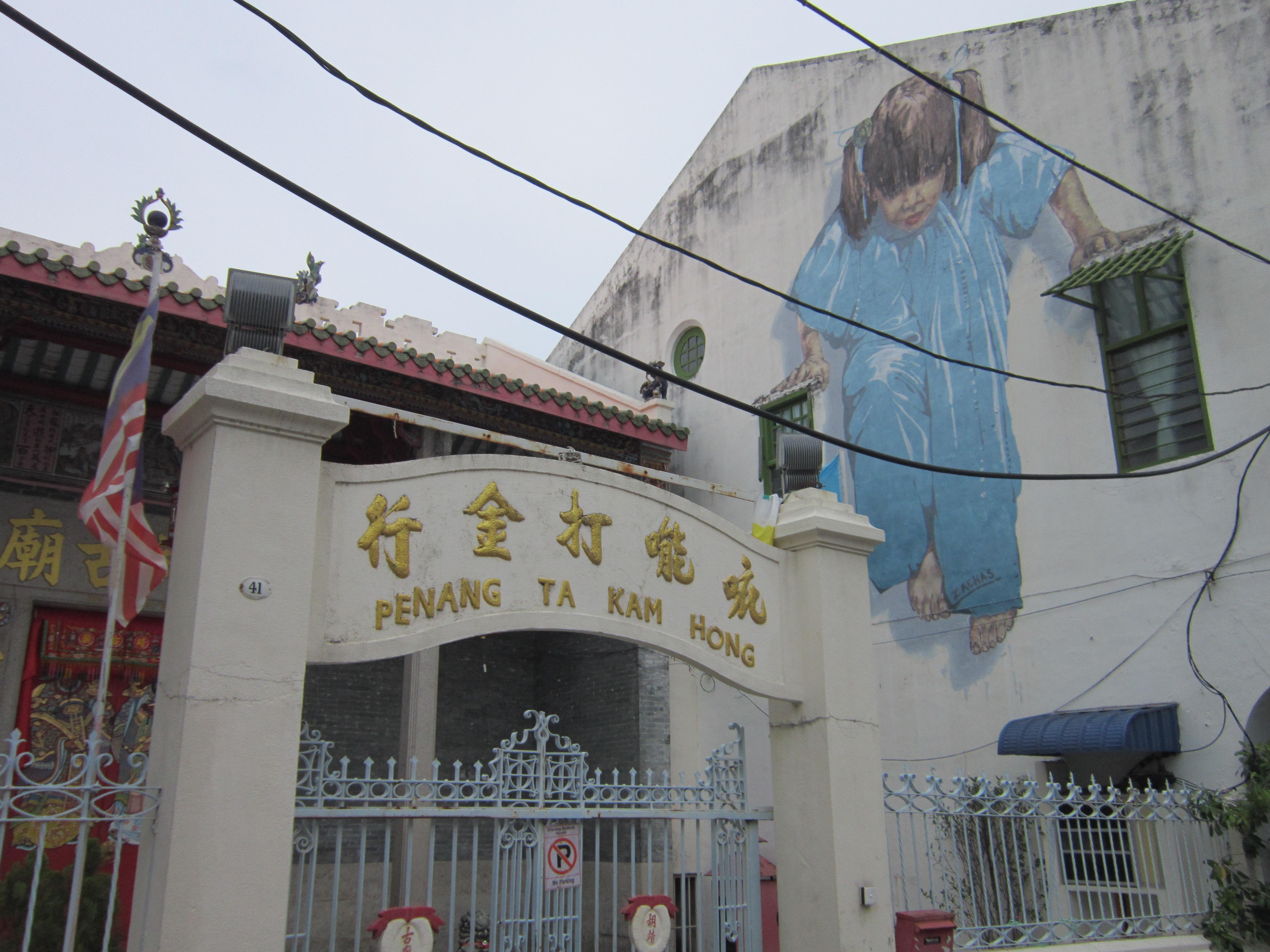 Penang Street Art Little Girl in Blue