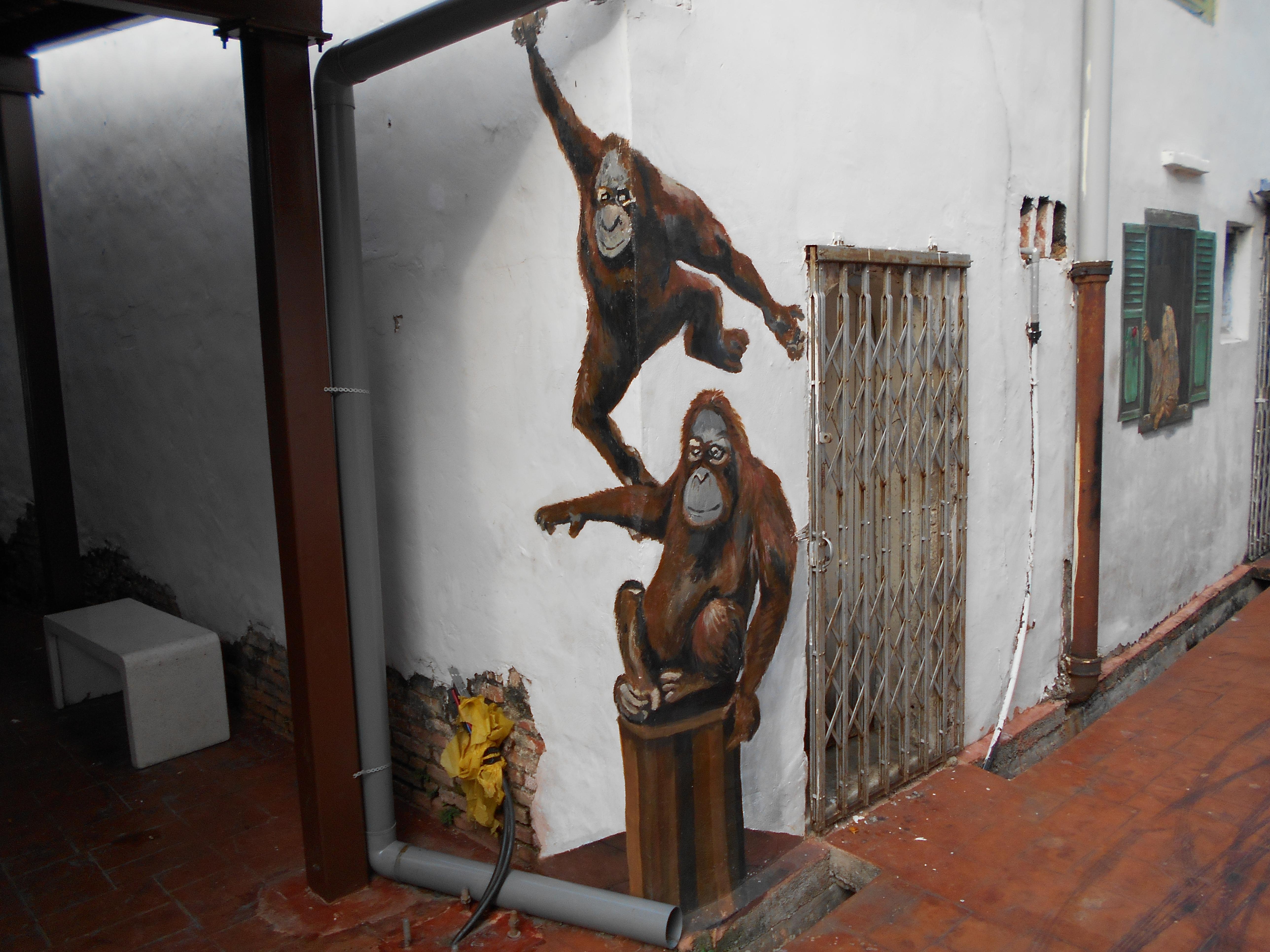 Melaka Street Art Monkeys