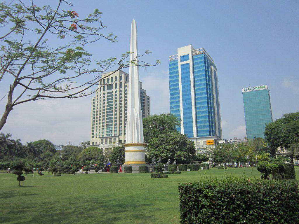 Independence Monument in Mahabandoola park