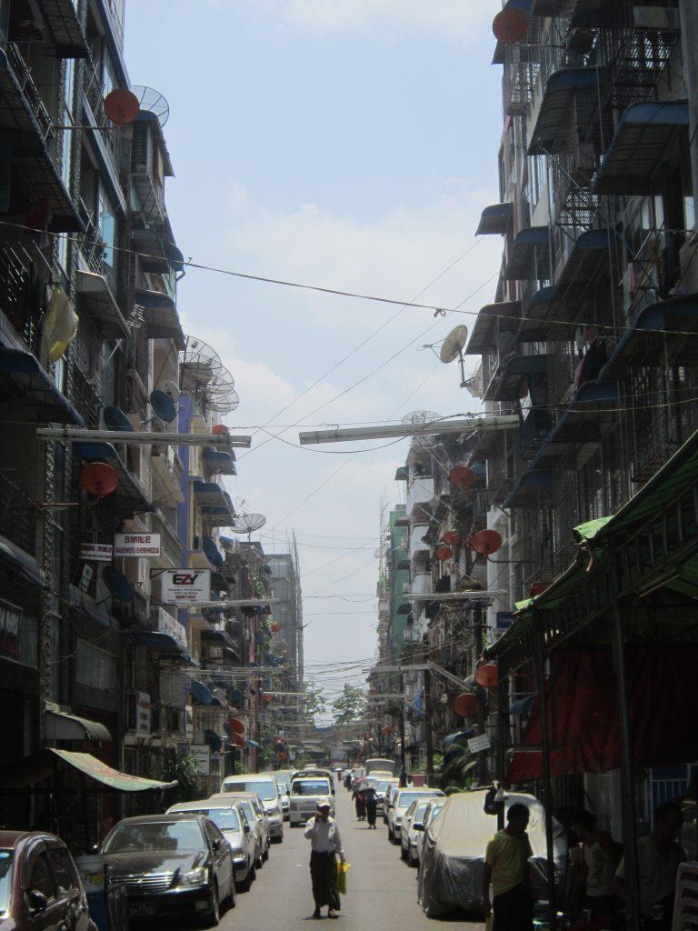 Downtown Yangon Street