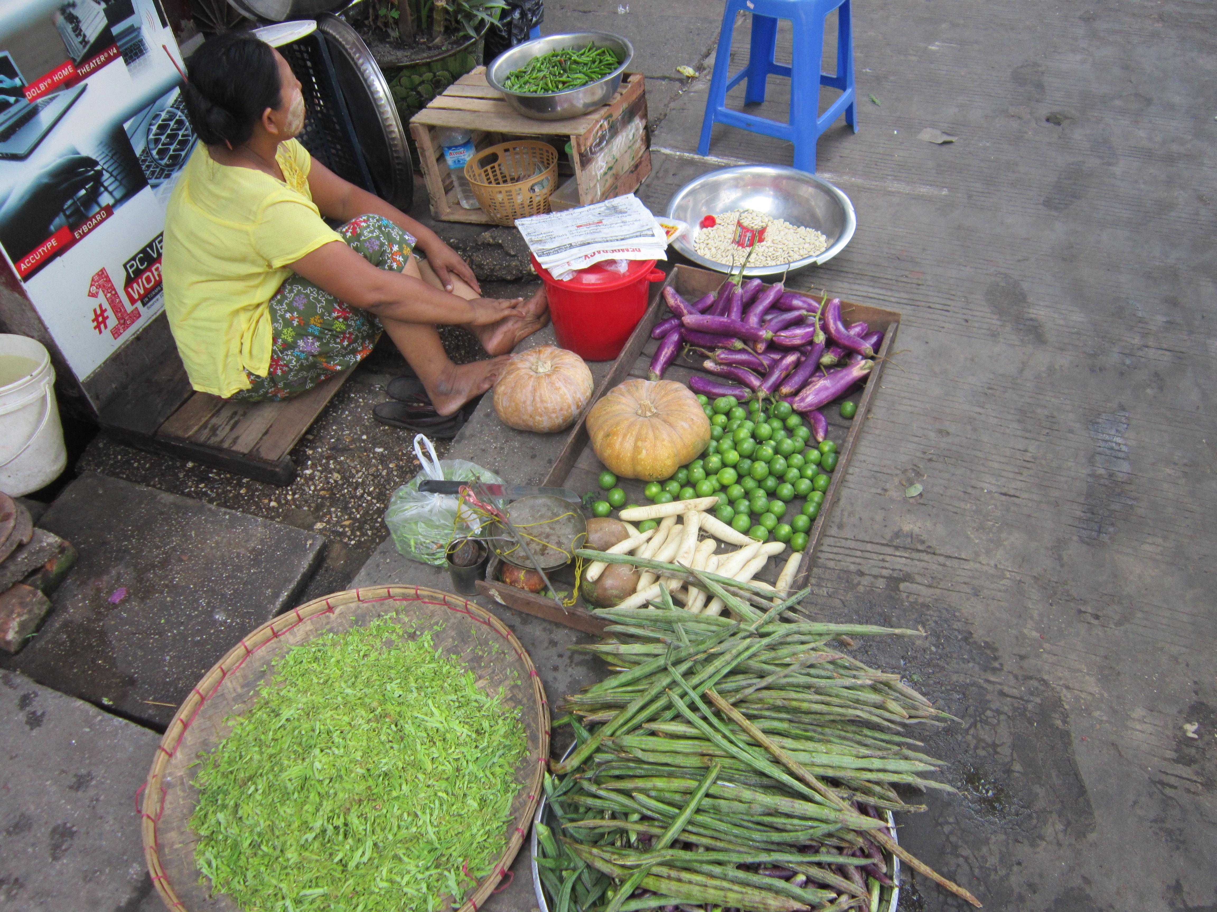 Downtown Yangon Street Stalls