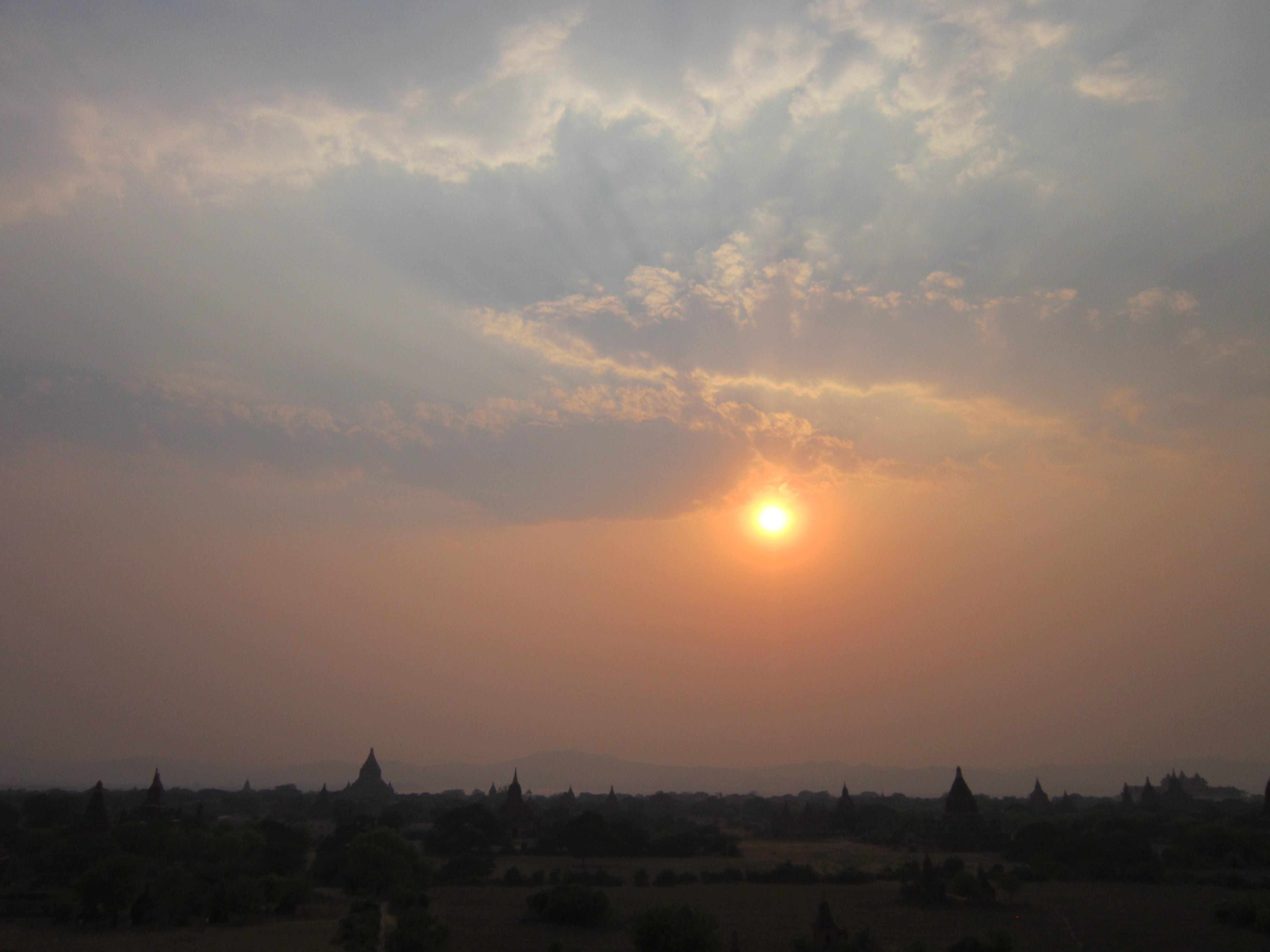 Sunset overlooking the Temples of Bagan