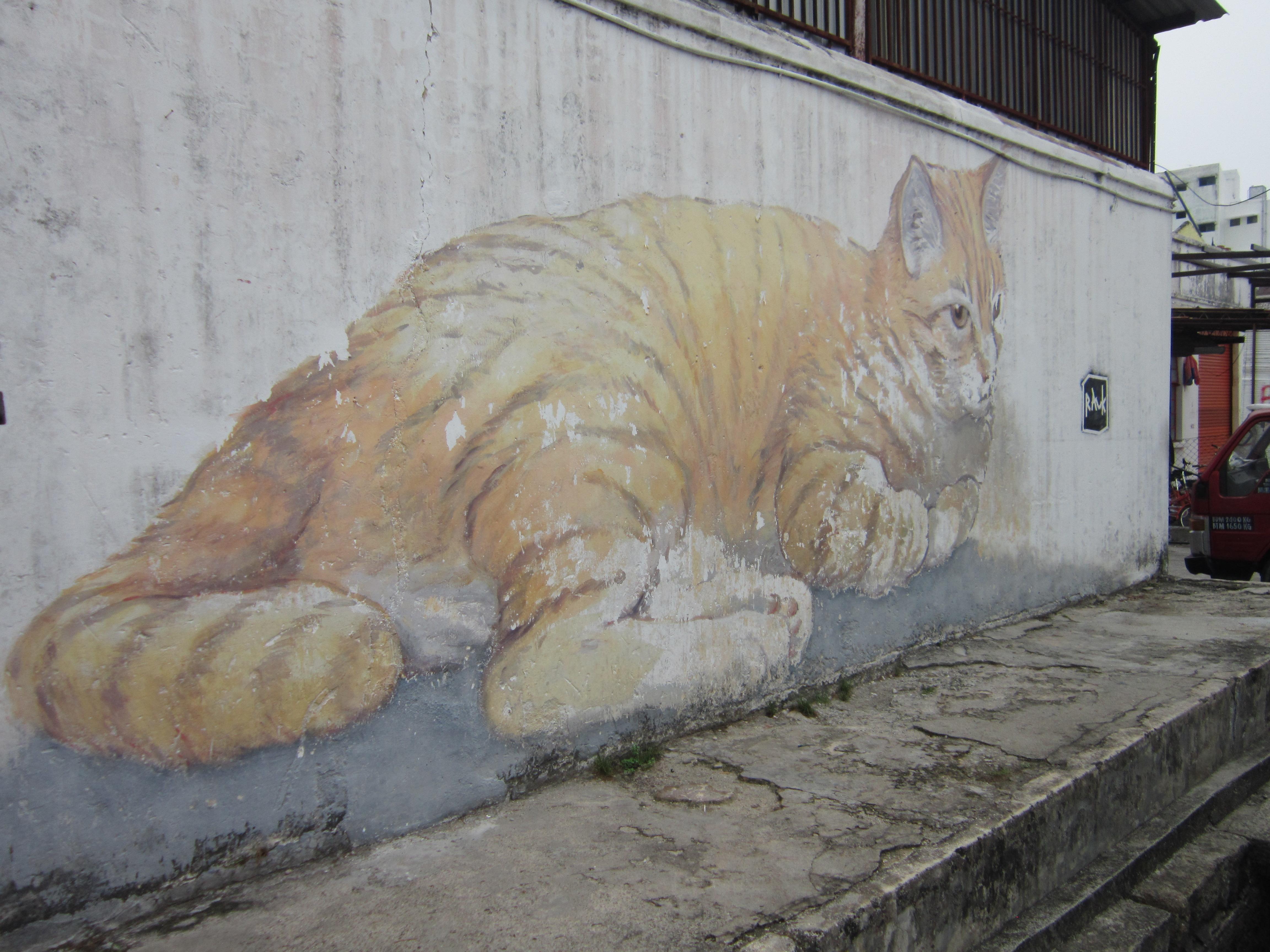 Penang Street Art Skippy Giant Cat