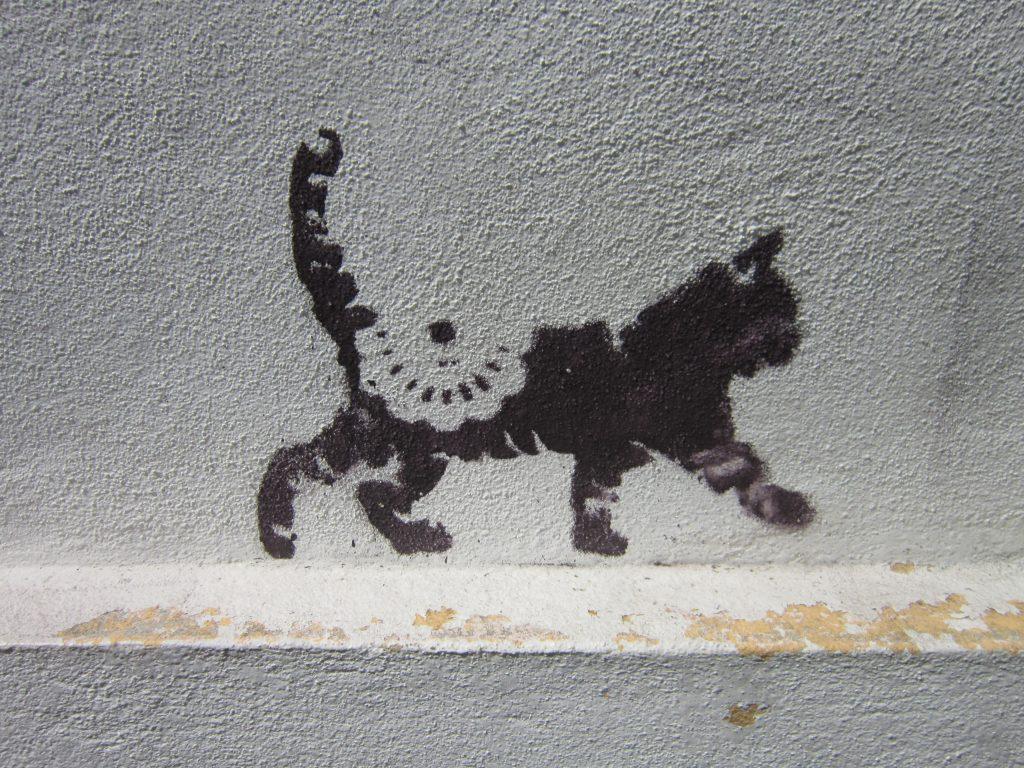 Penang Street Art Cat Print