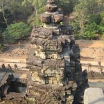 Looking down from a temple in Angkor Thom in the Temples Of Angkor