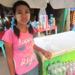 The people of Myanmar - Girl selling drinks in Bagan
