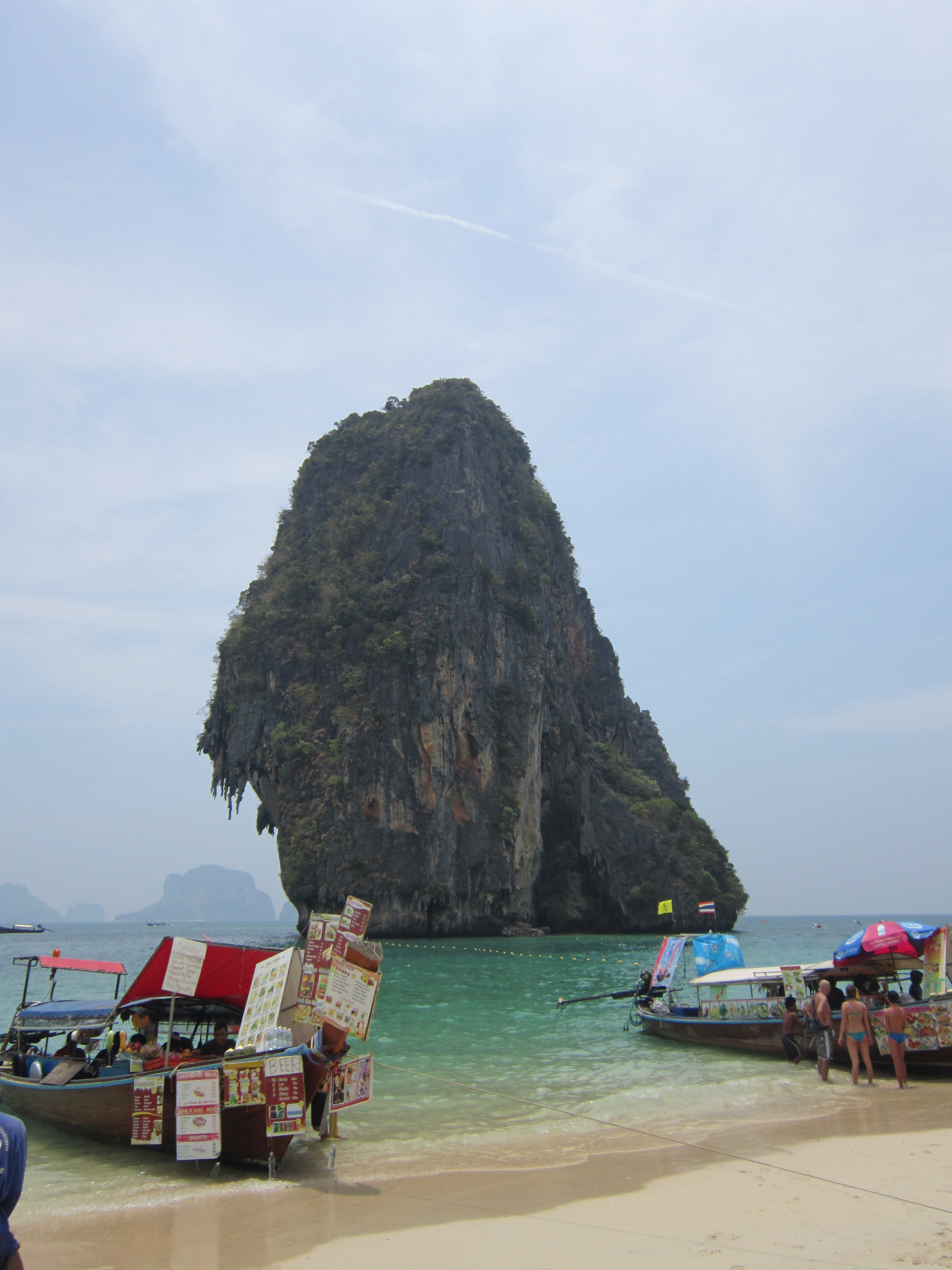 View from Phra Nang Cave Beach, Krabi area, Thailand