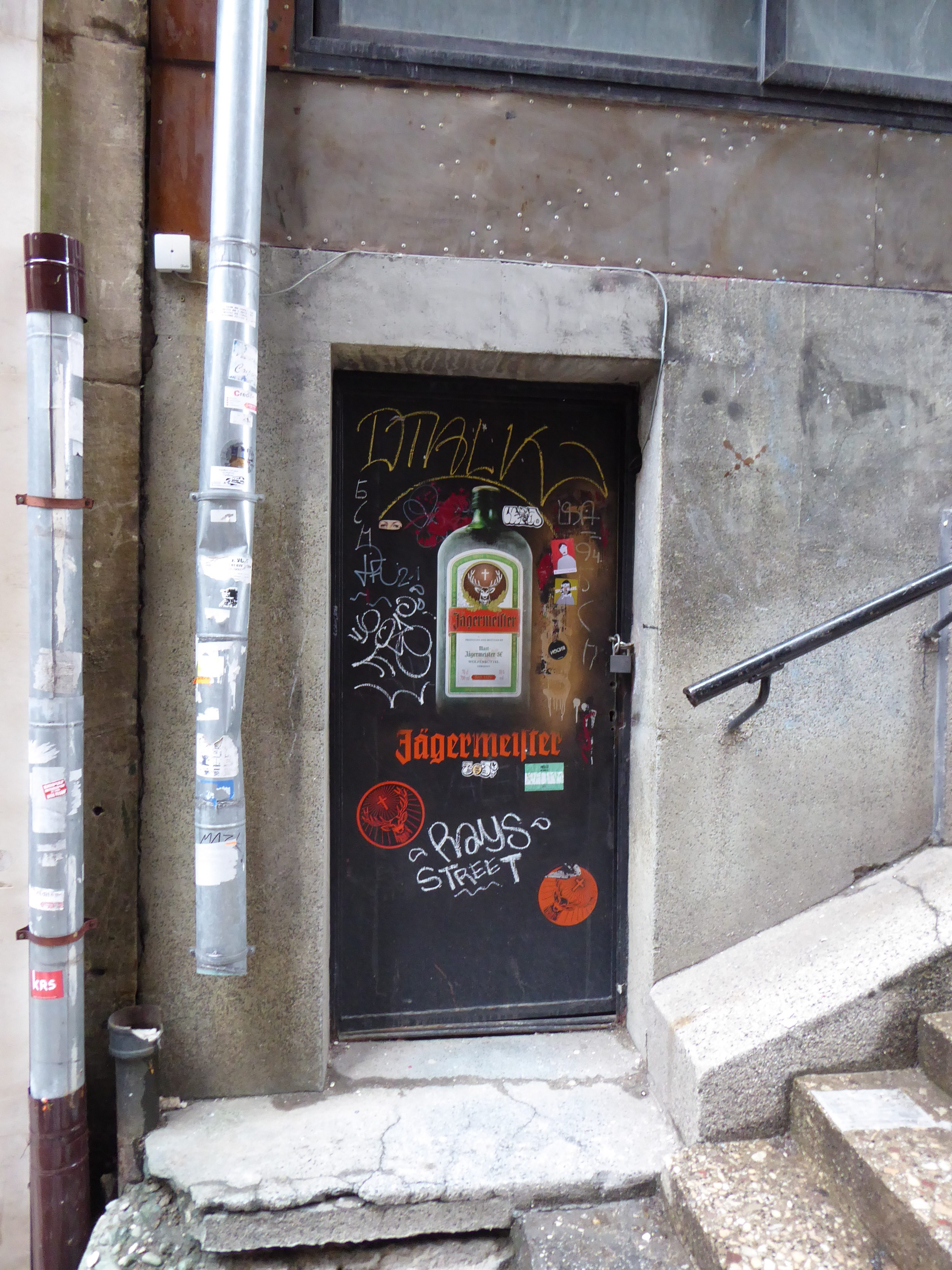 Picture of the door that was tld entrance to a Communist secret police building in Sofia