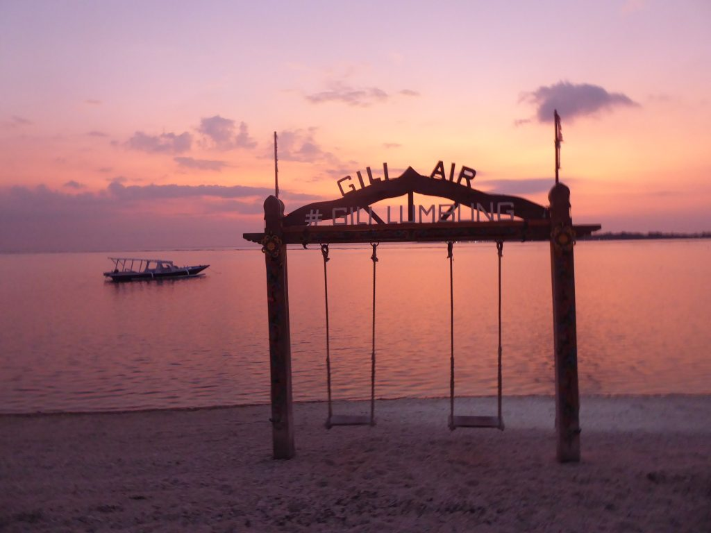 Sunset view on Gili Air