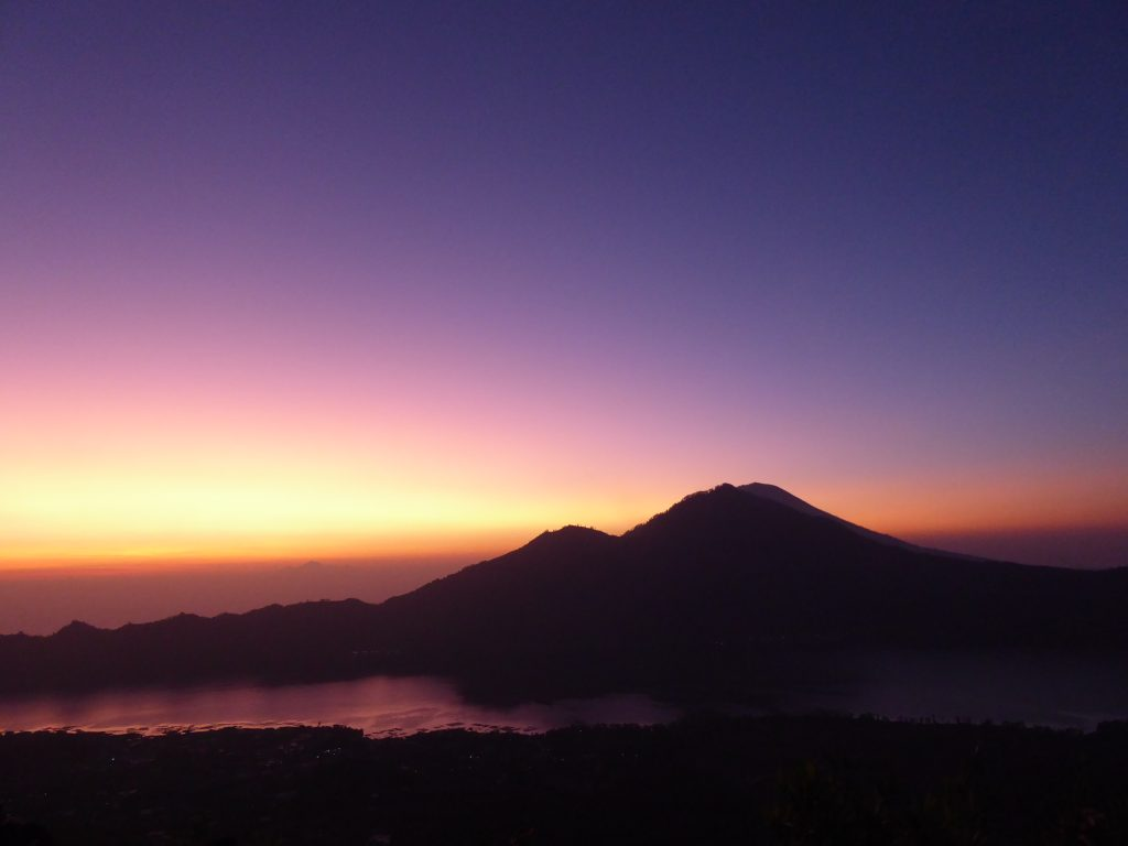 Sunrise view from Mount Batur on bali
