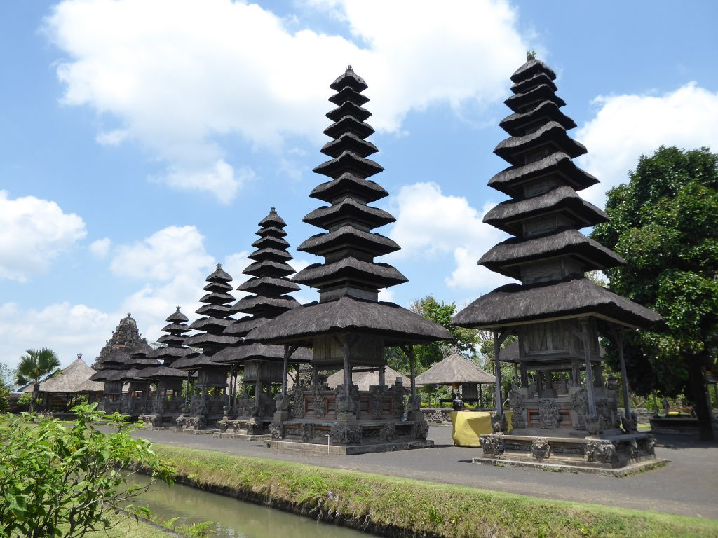The main pagoda's at Taman Ayun