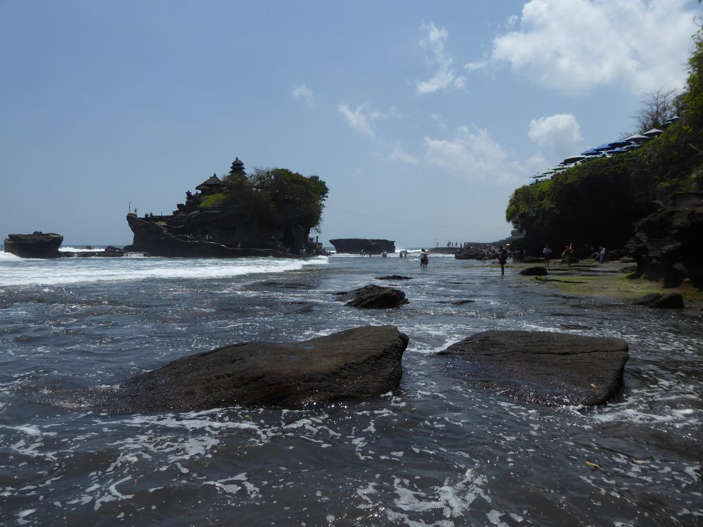 View of Tanah Lot across the sea
