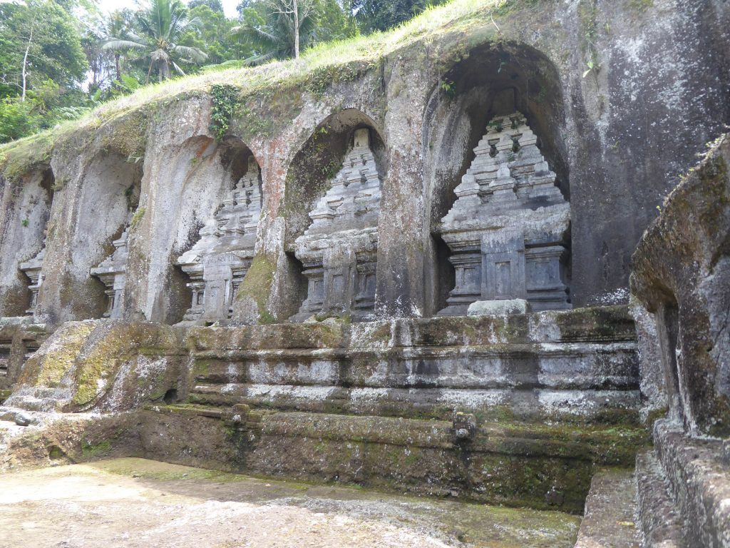 Gunung Kawi stone cravings in walls. A highlight for those backpacking Ubud