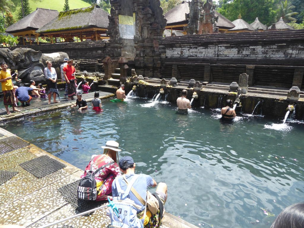 The bathing area at Tirta Empul