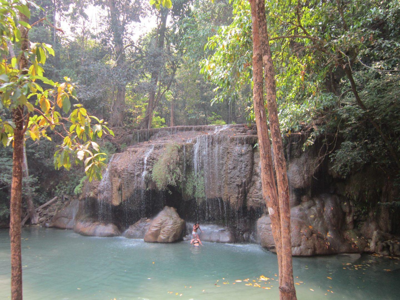 Erawan National Park - waterfall amongst trees