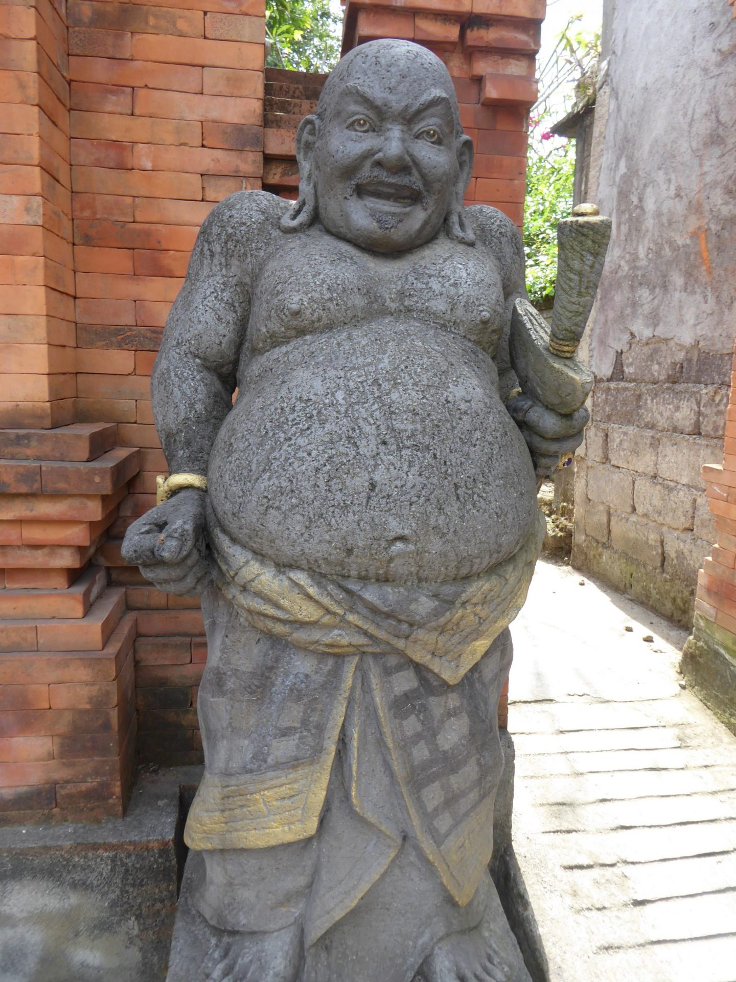 A Hindu statue of a man found in Ubud whilst backpacking Bali