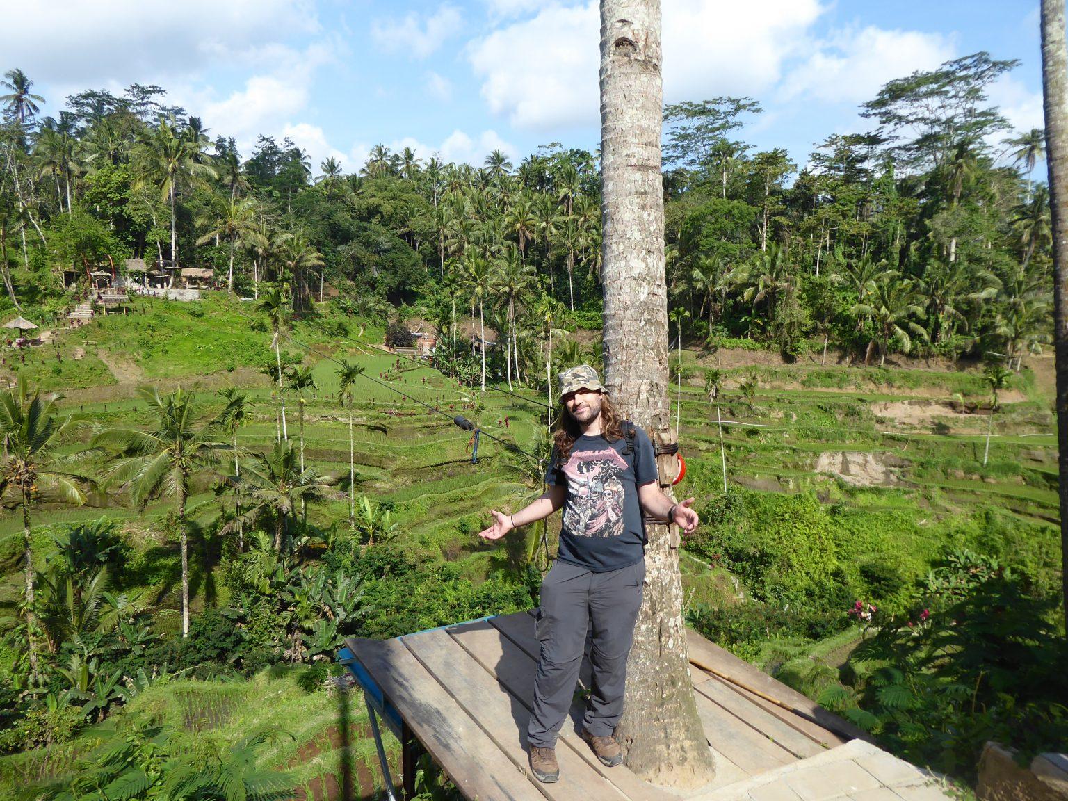 Posing at the Tegallalang rice terraces