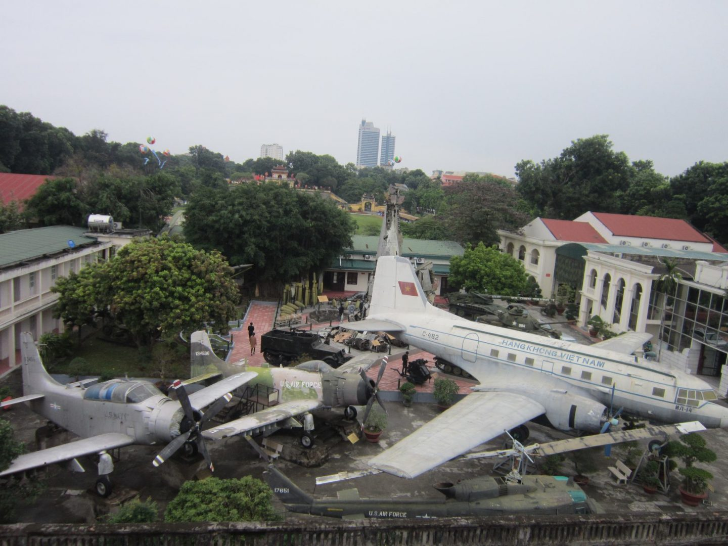 Military hardware on display at the The Military History Museum in Hanoi