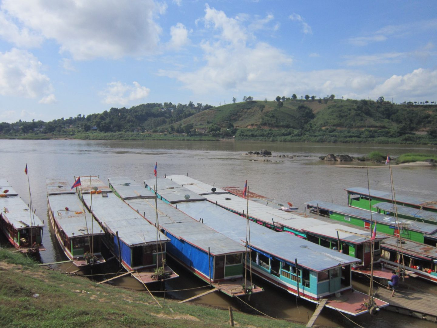 Boarding the slow boat in Huay Xai  - 1st stop on this  Laos Itinerary