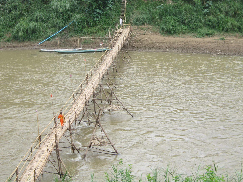 The bamboo bridge in Luang Prabang - Laos Itinerary