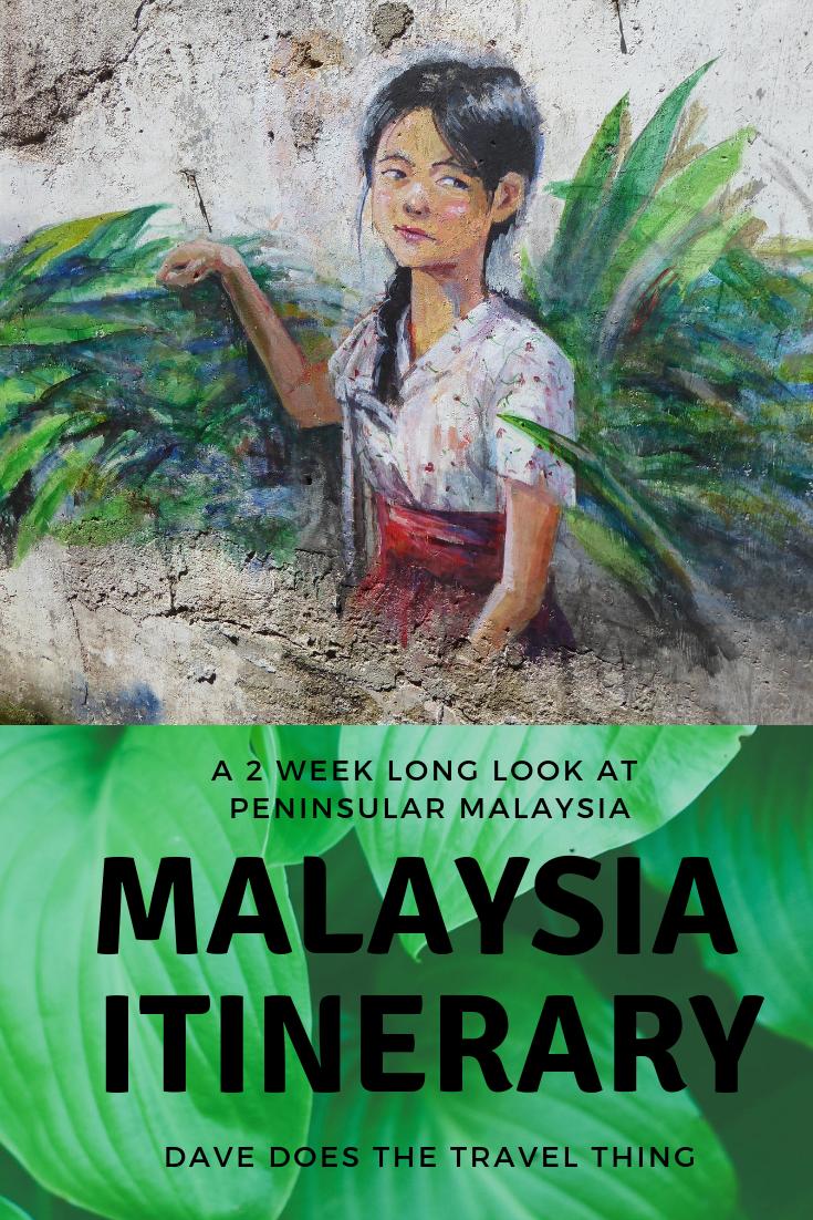 Peninsular Malaysia Itinerary Pin