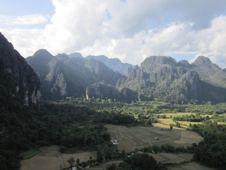 View from Pha Poak viewpoint, Vang Vieng - Laos Itinerary