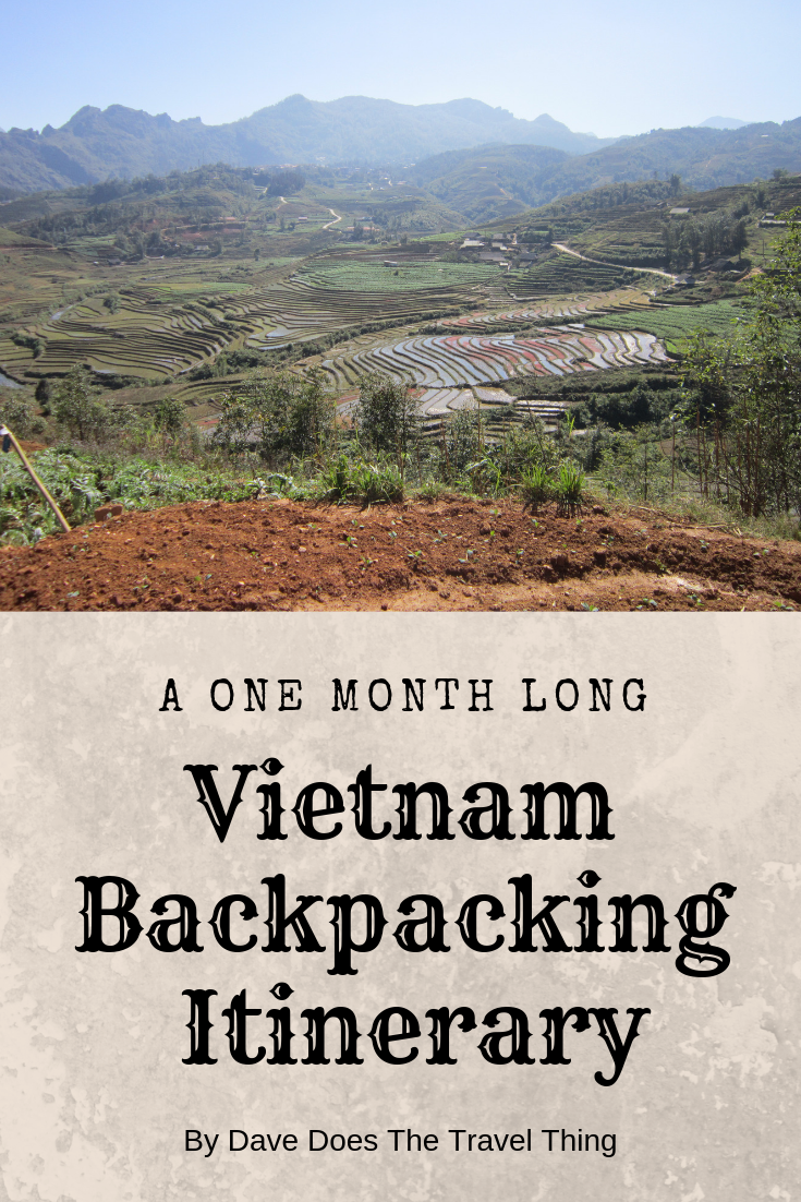 Vietnam Backpacking Itinerary Pin