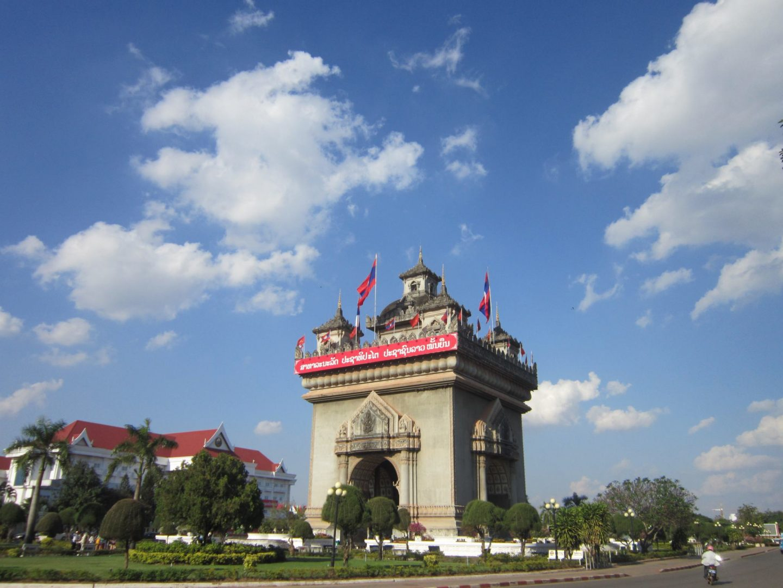 Patuxai victory gate - Vientiane -  Laos Itinerary
