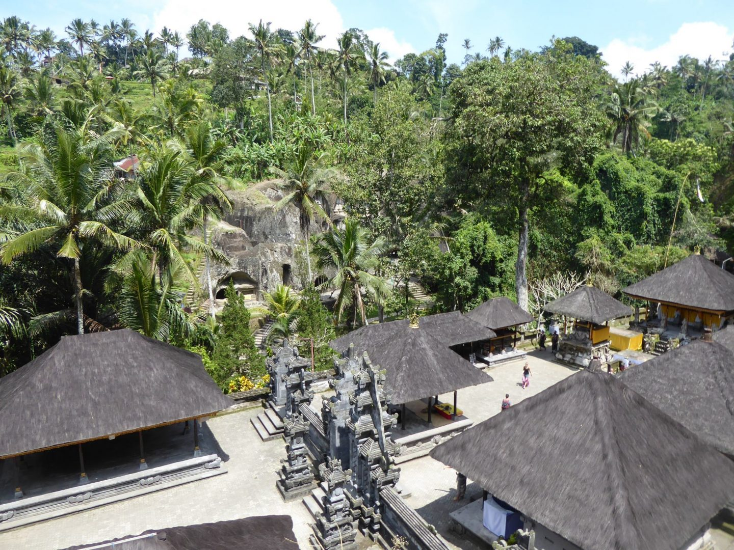 Gunung Kawi is surrounded by green jungle and rice terraces - Balinese Temples
