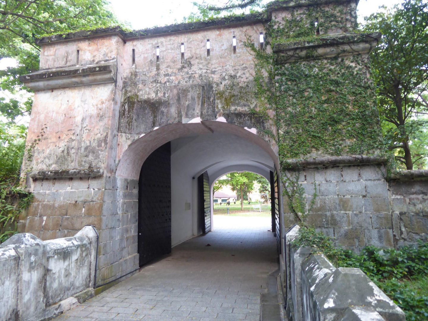 The remaining Fort Canning gate - leftover from the old British fort - Singapore