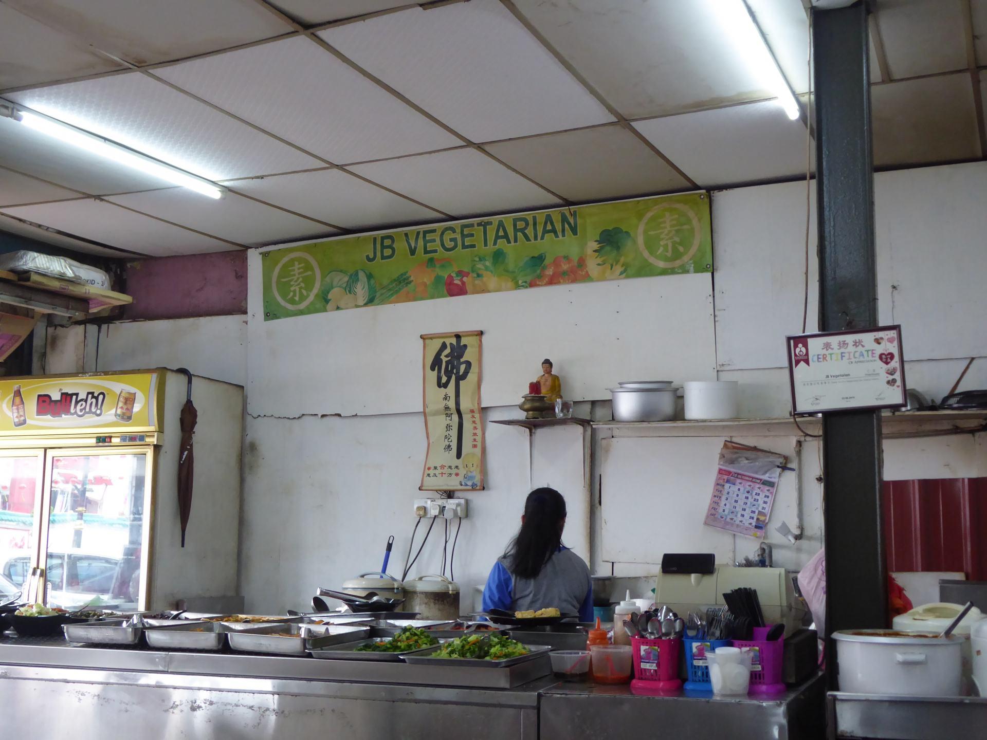 JB Vegetarian Stall in Johor Bahru