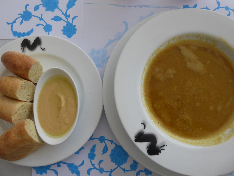 Middle eastern food in the Islamic Arts Museum in Kuala Lumpur