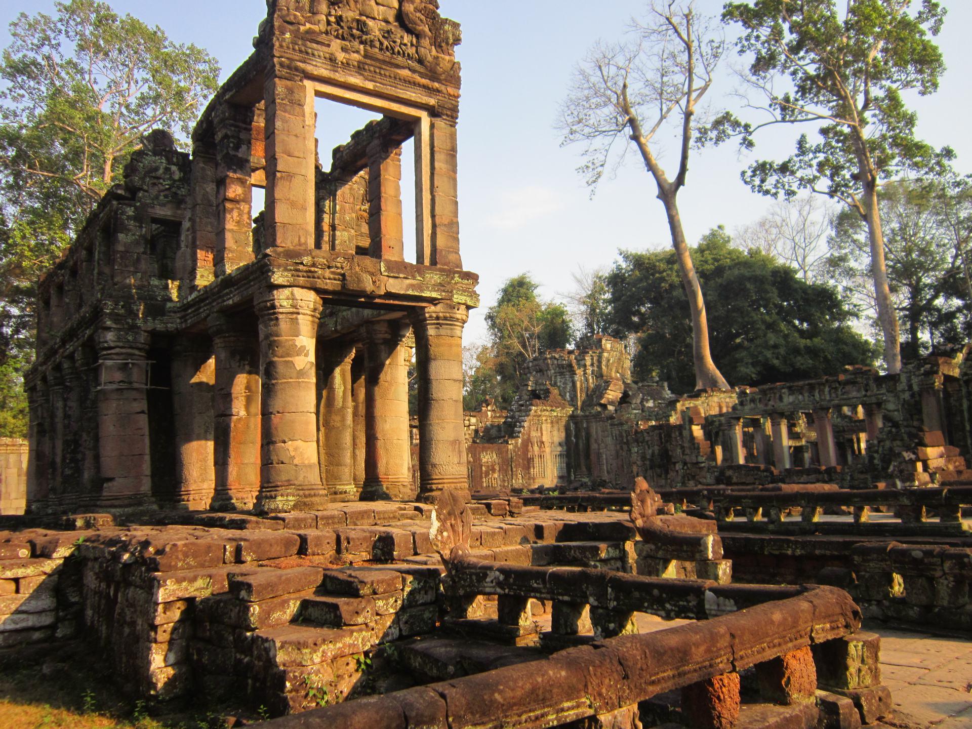 Ruined temples at Preah Khan in Angkor.