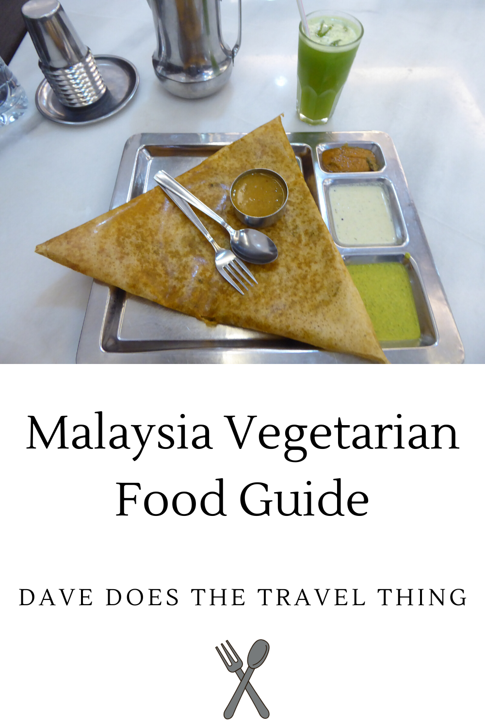 A pinterest pin for this Malaysia Vegetarian Food Guide