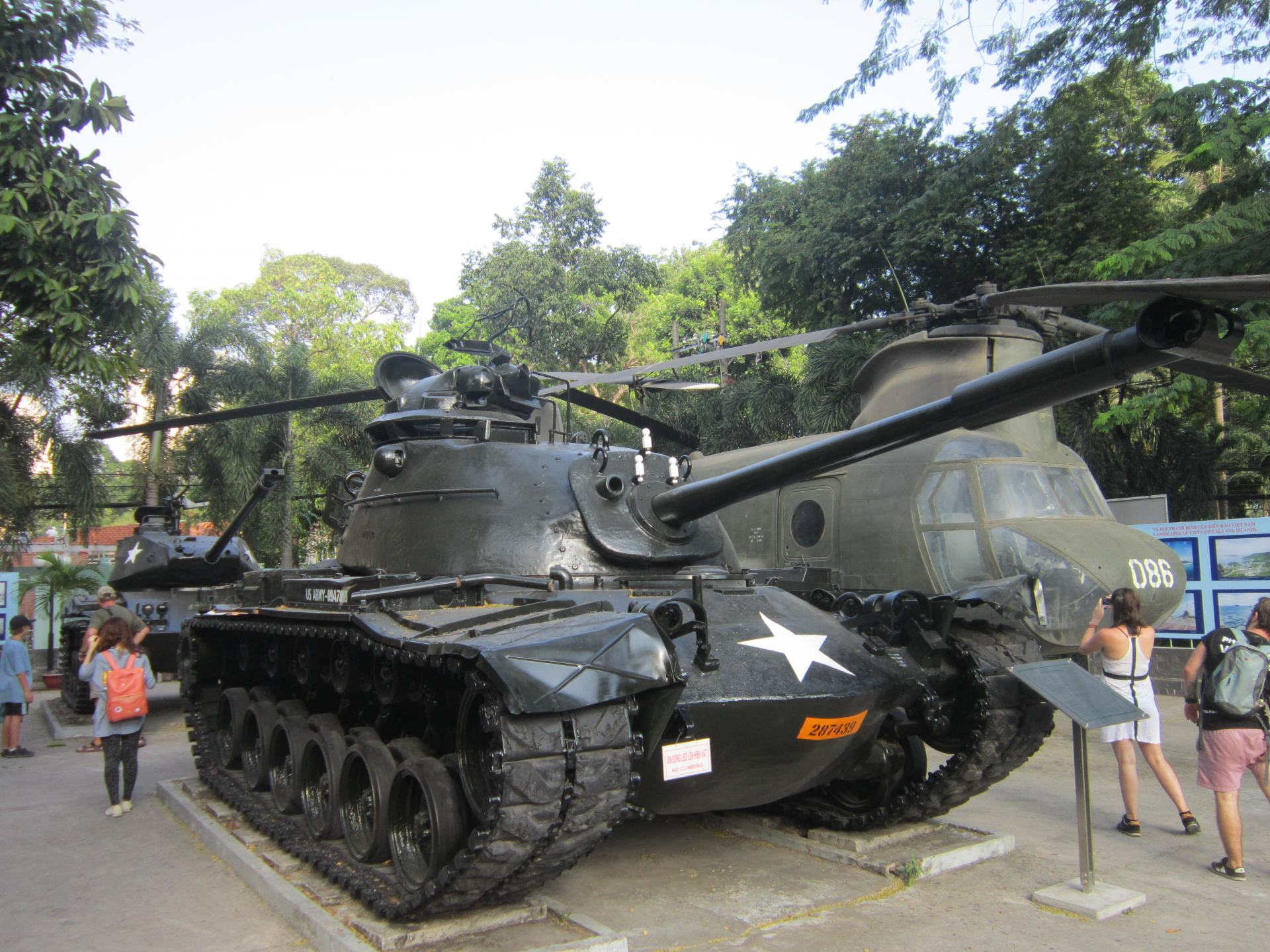 A US tank and Helicopter outside the War Remnants Museum in Vietnam. One of my favourite museums in Southeast Asia