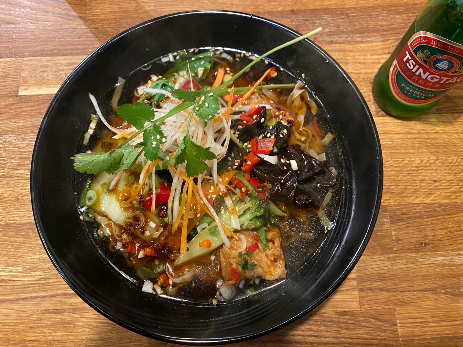 A noodle soup at Bath Noodle