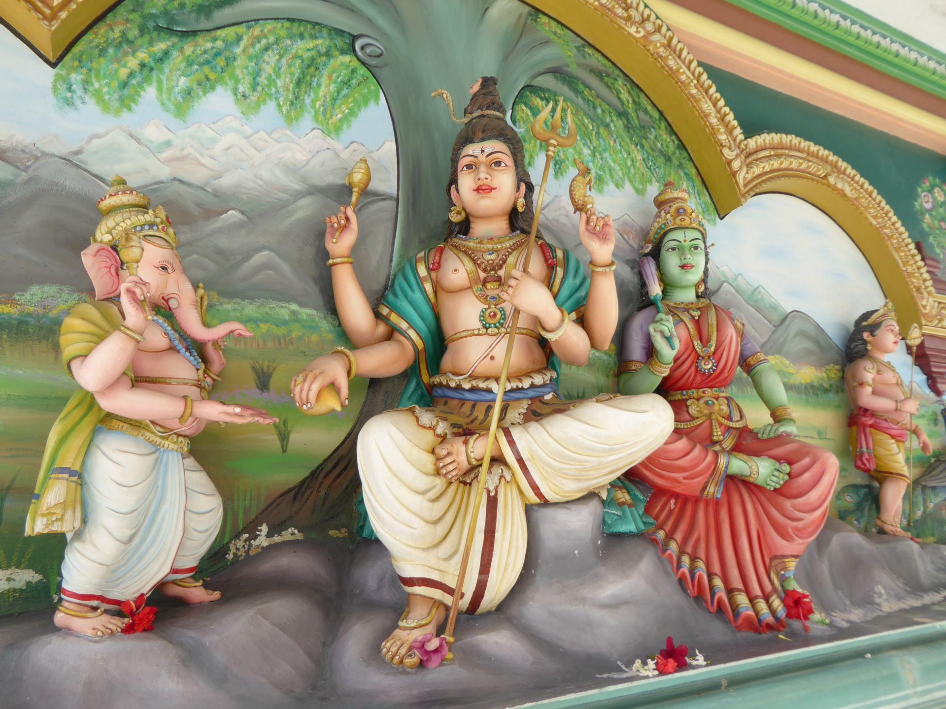 Hindu artwork in Sri Mahamariamman Temple, in China town, Kuala Lumpur